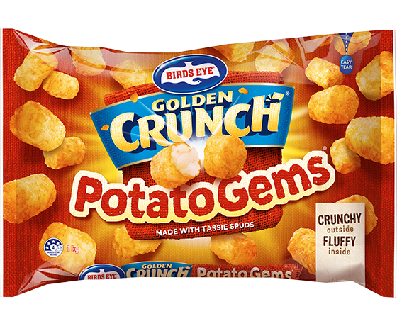 40176 Birds Eye Golden Crunch Potato Gems 1kg
