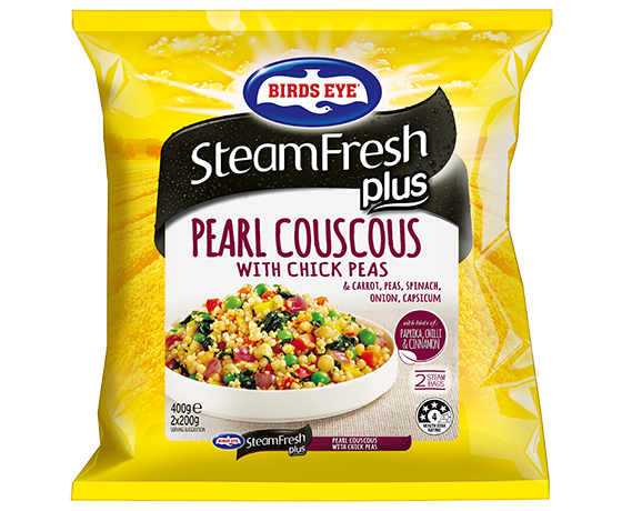 Steamfresh Plus Pearl Couscous With Chickpeas 400g Steamfresh Frozen Vegetables Products Birds Eye An Eye For Good Food